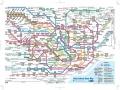 Mapa del tren en Tokyo